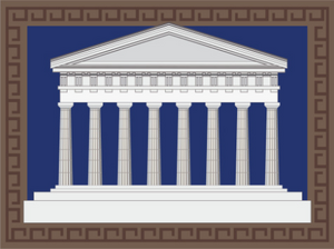 Stylized Greek Temple