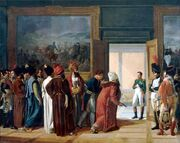 The Persian Envoy Mirza Mohammed Reza Qazvini Finkenstein Castle 27 Avril 1807 by Francois Mulard