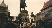 Prague November89 - Wenceslas Monument