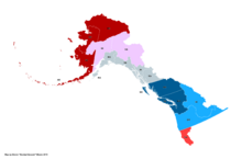 Map of the Alaskan Wars (Russian America)