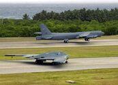 B-52 and B-1 in Diego Garcia