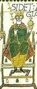 KingHaroldEnthroned Detail BayeuxTapestry
