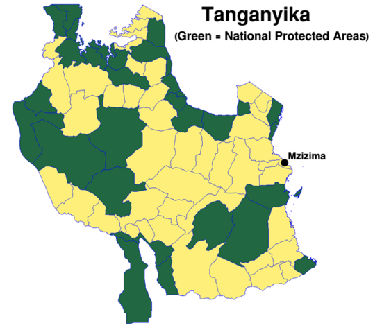 Map Tanganyika Districts small (VegWorld)