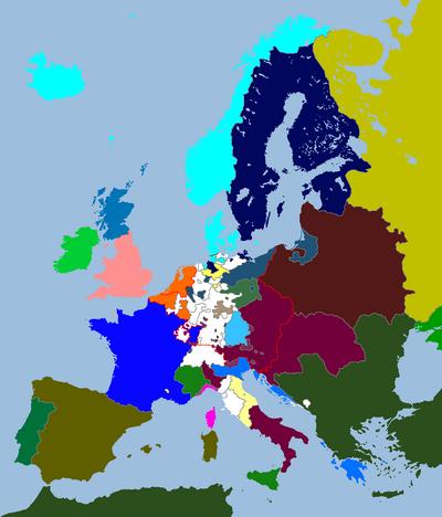 European Map 1706 (An Orange Dynasty)