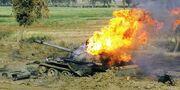 Destroyed Zimbabwean Type 59 II