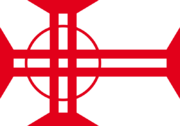 Northern cross flag circle