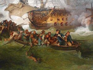 Loutherbourg-La Victoire de Lord Howe-Détail 1