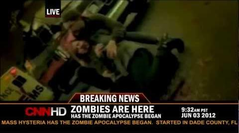 Zombie outbreak on CNN live report!