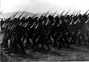 Slovak soldiers in eastern Slovakia