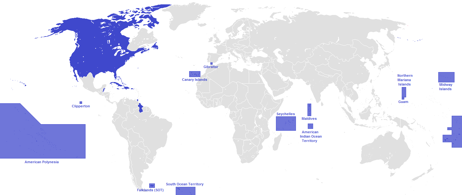 Image United States Overseas Territoriespng Alternative - Map of us territories and possessions