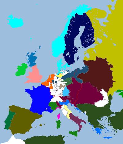 European Map 1725 (An Orange Dynasty)