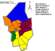 Columbia County Districts for the House