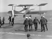 Sopwith Pup landing on board ship