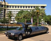 DeLorean limo, front open