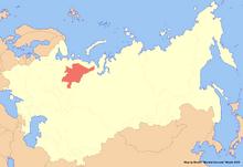 Location of Komi (New Union)