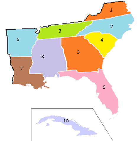 File:States of the CSA numbered (1997).png