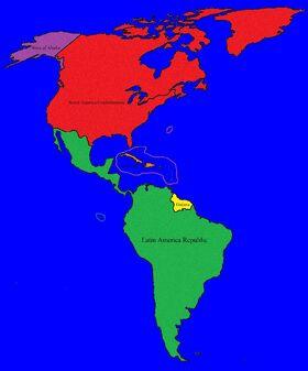 Map peaceful america
