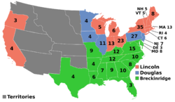 U.S. Presidential Election 1860 (Election of 1860)