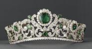 Eliza Regina's emmerald and diamonds tiara
