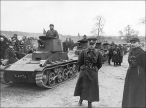 Soviet forces waiting for the command to cross into Poland.
