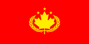 Communist Canadian Flag