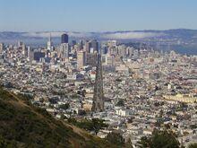 Market Street San Francisco From Twin Peaks