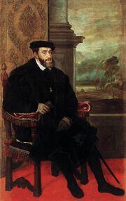 Titian - Portrait of Charles V Seated - WGA22964