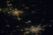 Luxembourg and Brussels at night