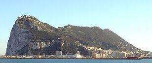 Rock of Gibraltar northwest