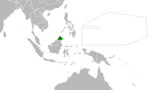 Location of North Borneo (Myomi Republic)