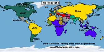 Easternized World in 1858