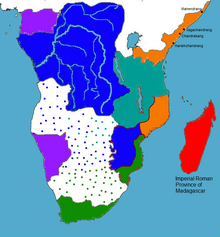Africa with Roman madagascar