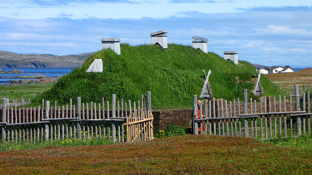 File:L'Anse aux Meadows, recreated long house.jpg