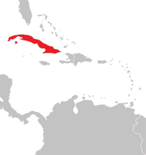 Location of Havana