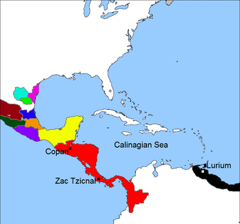 Crispian Landing in the Maya territory