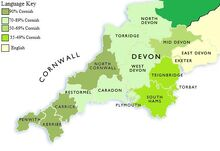 Linguistic Map of Devon and Cornwall