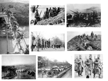 Montage of Serbian Invasion