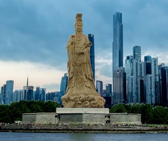 Giant statue of Empress Wu Zetian