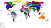 Asian Earth World Map