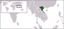 Location of North Vietnam