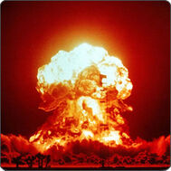 A typical nuclear bomb being tested