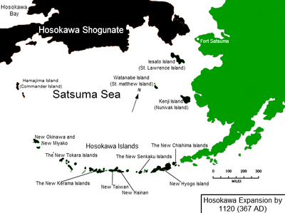 Satsuma Sea in 1120