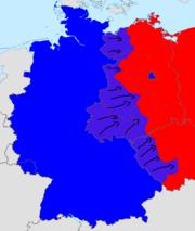 German revolution of 1970's map