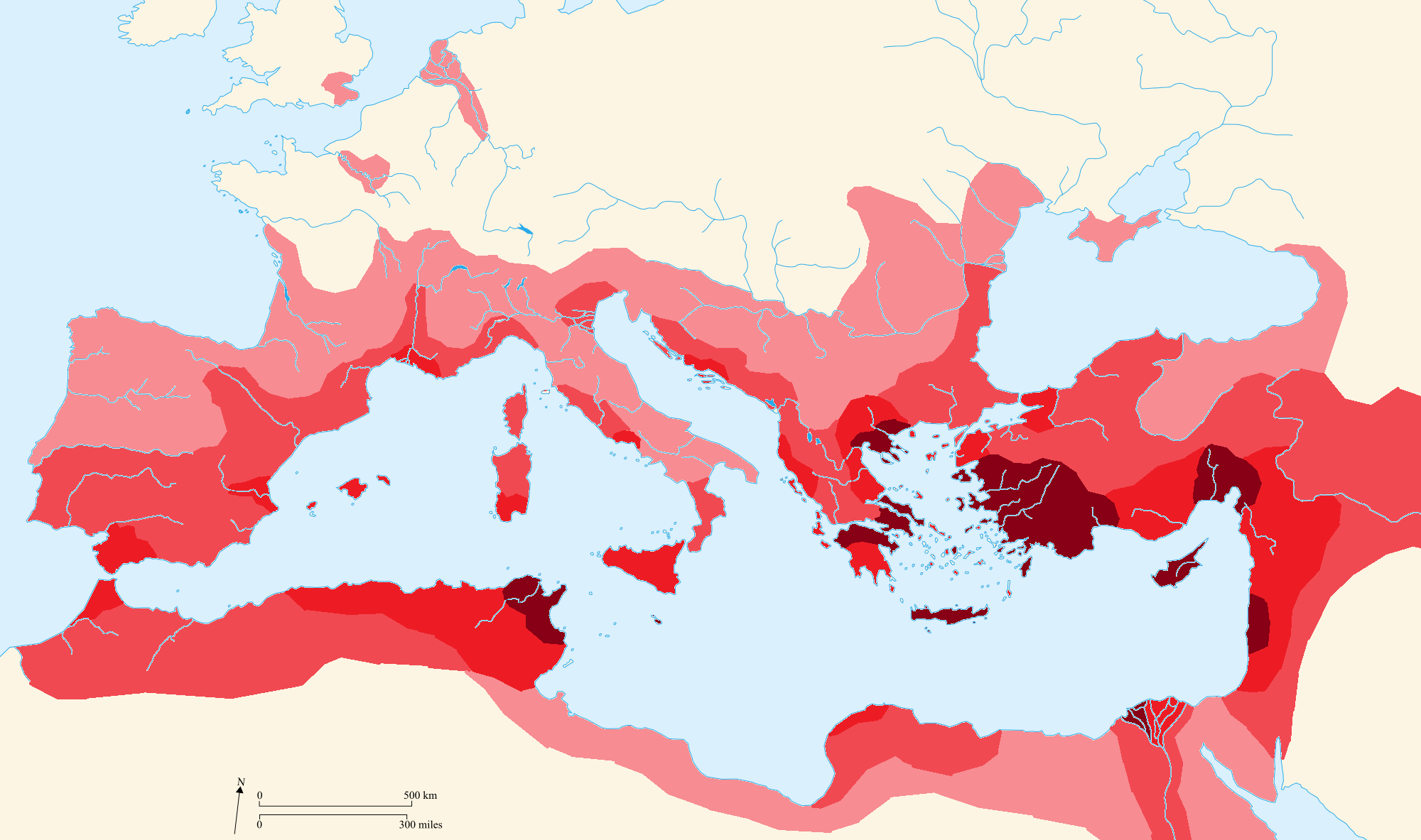 Image Maps Spread of Christianity