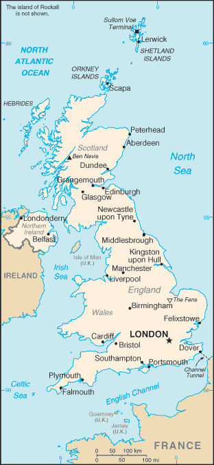 United Kingdom-CIA WFB Map
