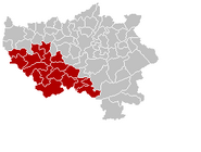 Arrondissement Huy Belgium Map