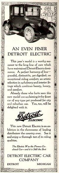 1917DetroitElectricAd