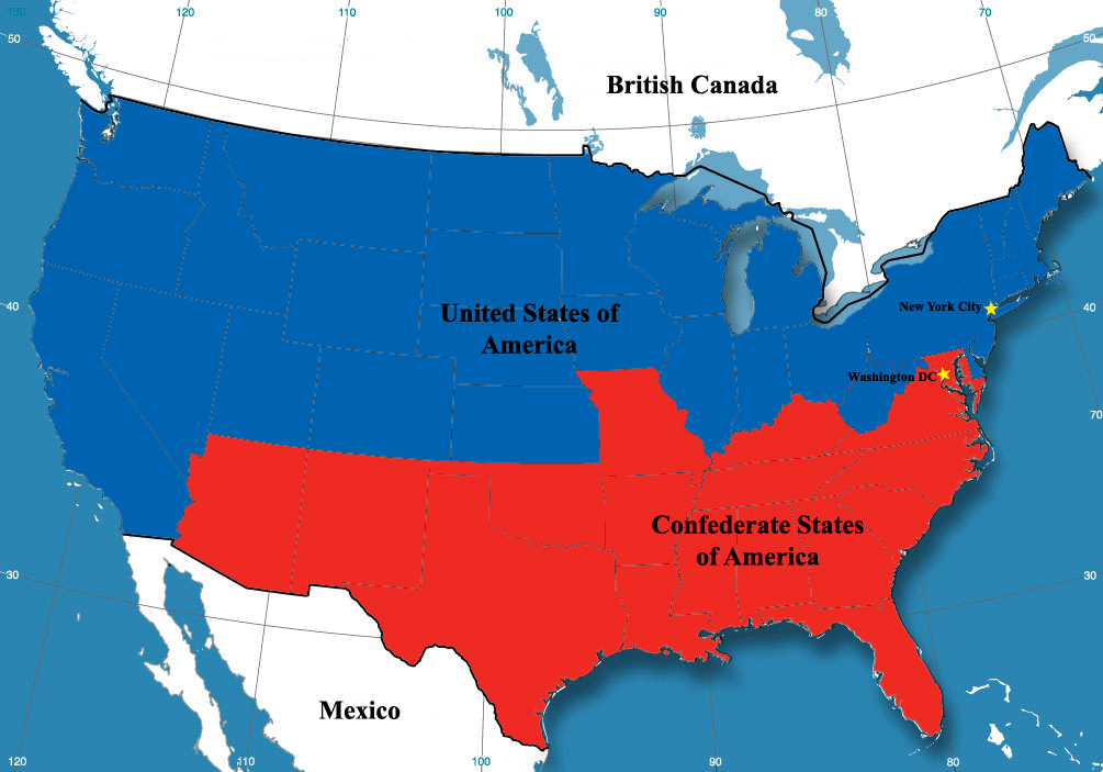 Image Althist Post Civil Warjpg Alternative History FANDOM - Alternate history us map
