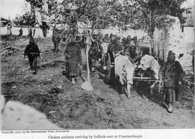 File:With the conquered Turk (1913) cholera patients arriving.png
