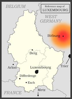 Luxembourg reference map
